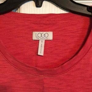 LOGO by Lori Goldstein Tops - Coral Red Tunic by Logo